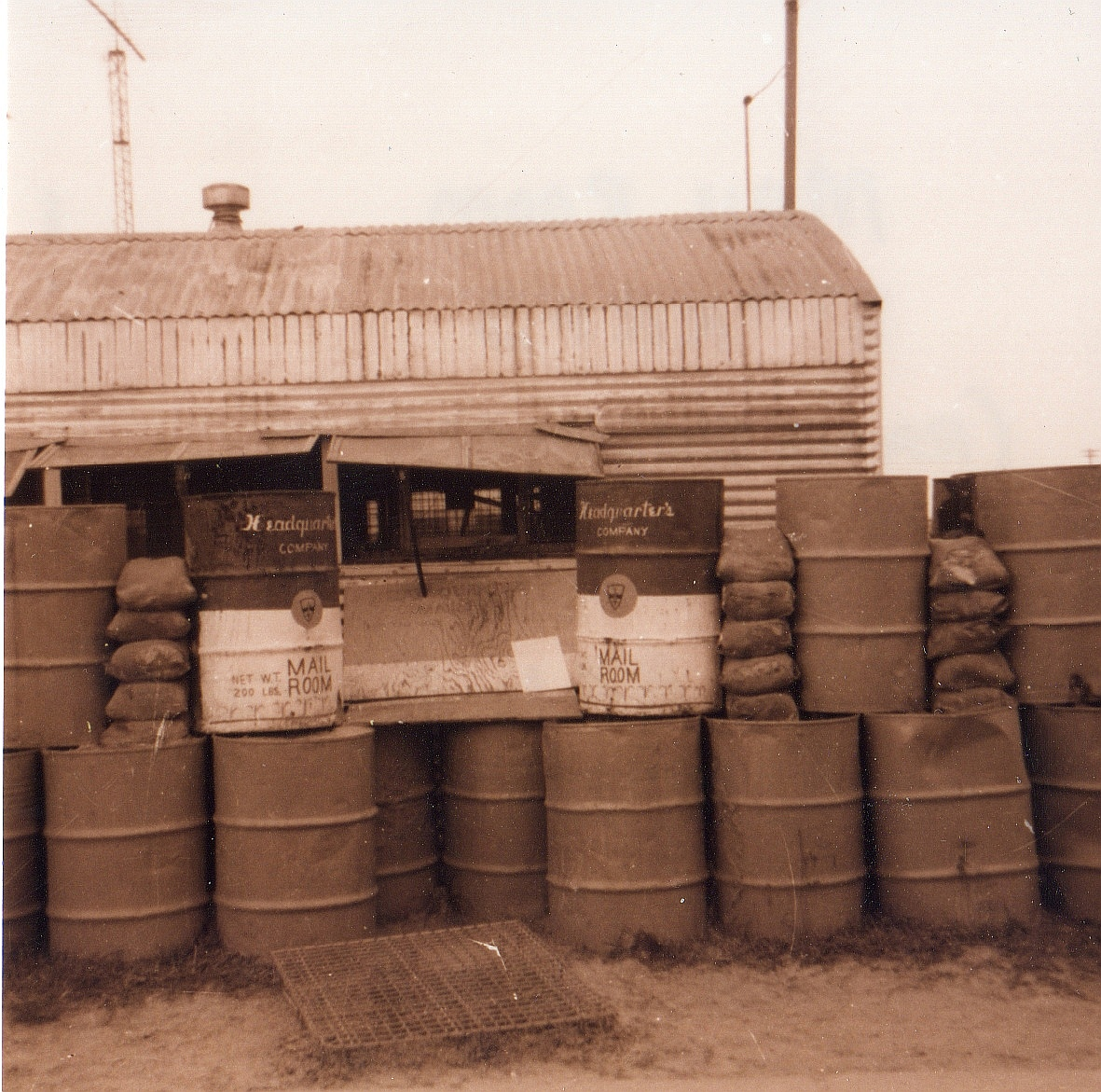 Mail Room, 8th RRFS, Phu Bai 1970