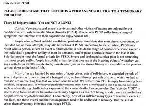 suicide and ptsd