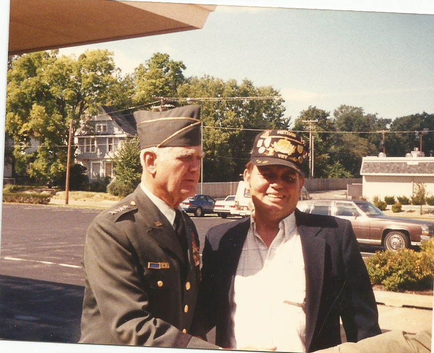 Don Roush and Gen. Westmoreland, 1990