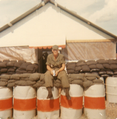 Front of fire station, Jim Cheek, 6-13-70