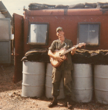 This is where I slept at the back of the fire station. Jim Cheek, 6-13-70