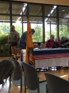 CCVVA Table at Veterans Day Ceremony