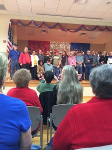 Ceremony at Allen Senior Center