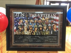 Veterans Plaque at Allen Sr Center