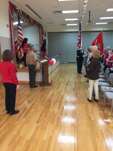 Veterans Day Ceremony Allen Sr Center
